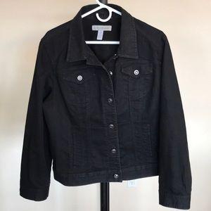 Chico's Jean Jacket, Dark Wash, Size 3 (16)